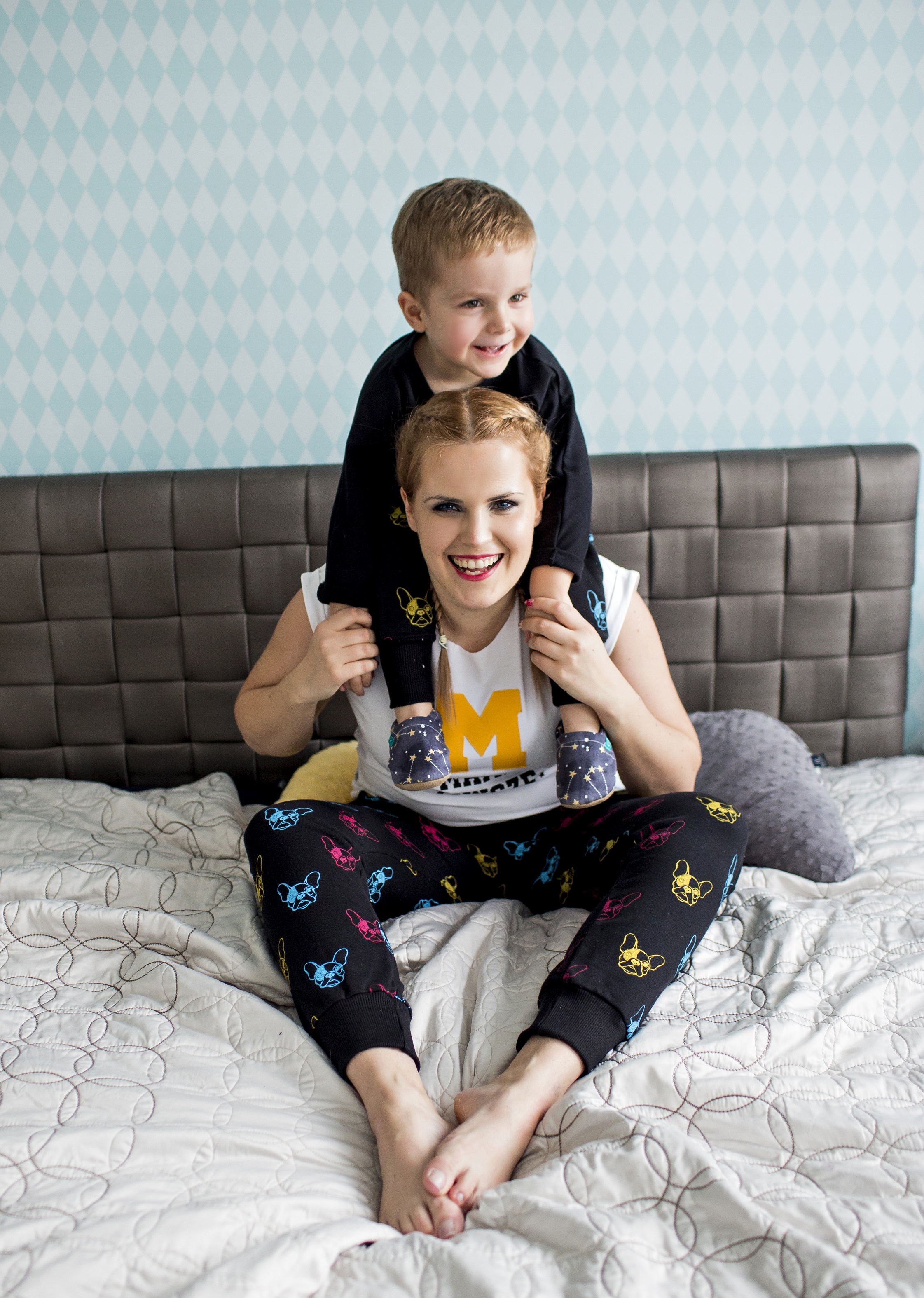 spodnie dla mamy i syna
