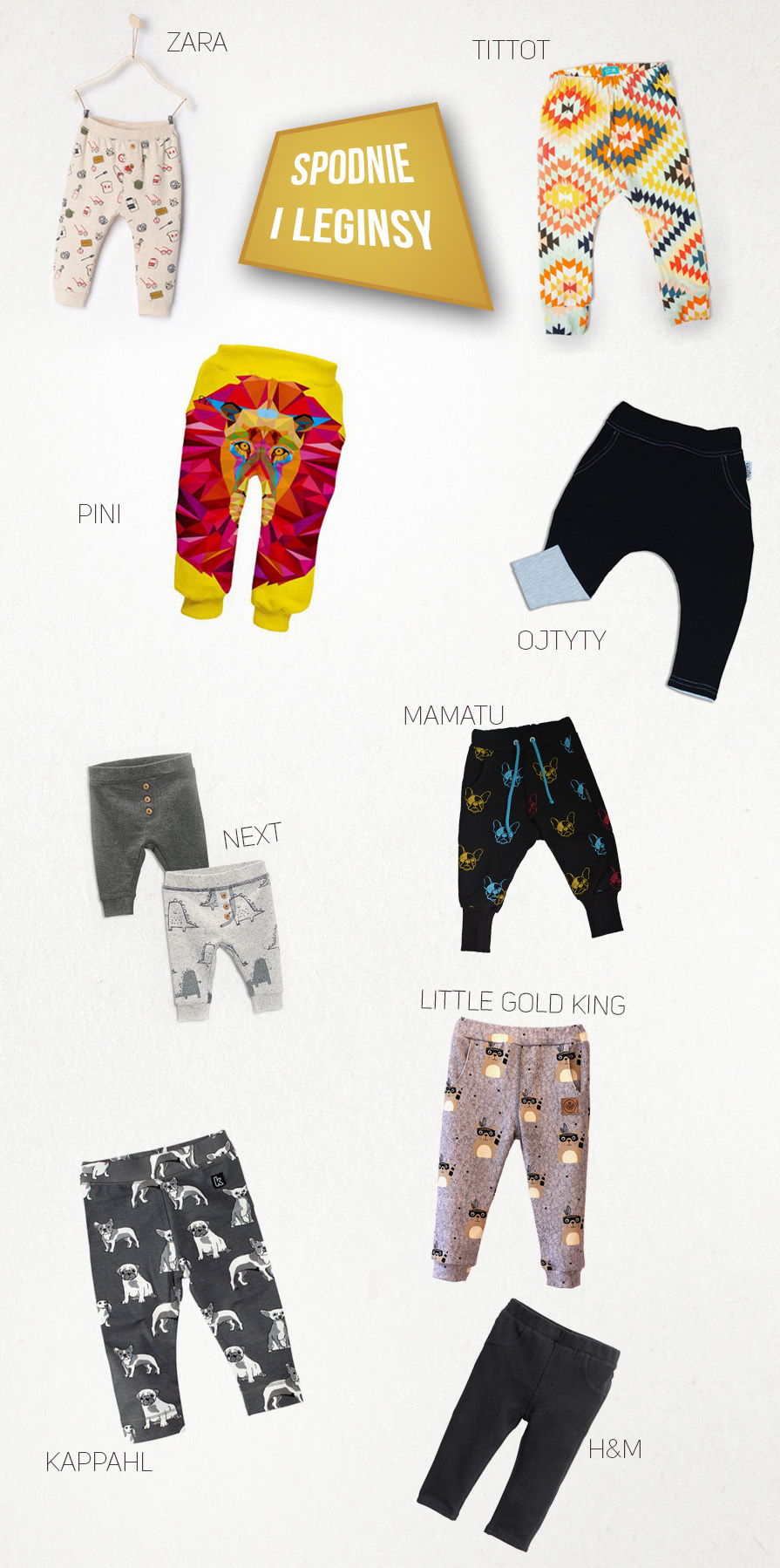 oryginalne spodnie dla chłopców