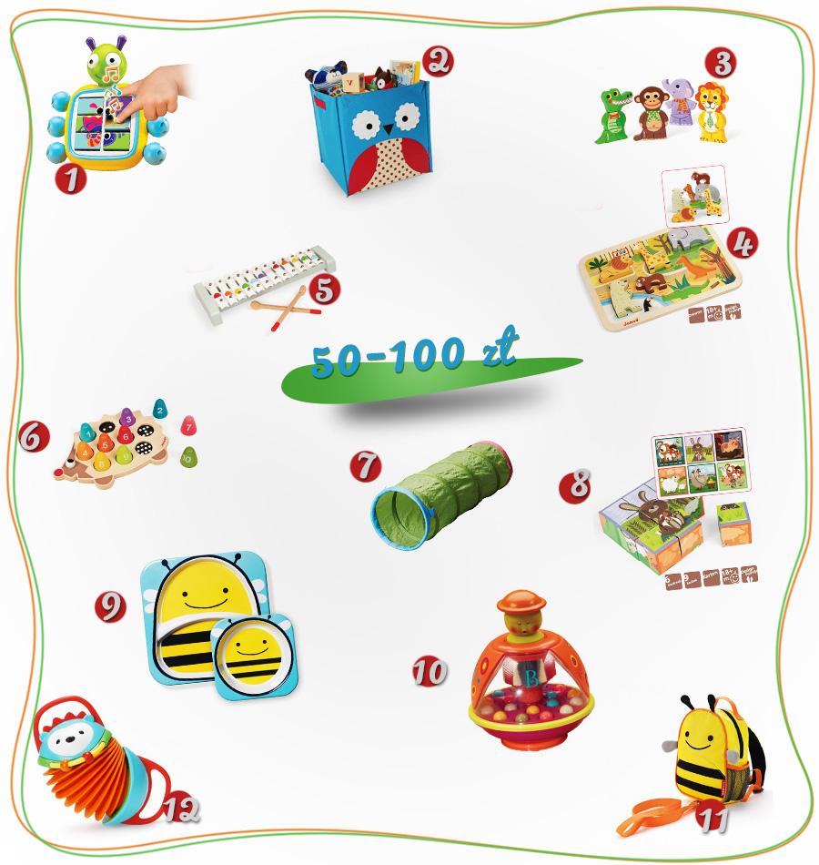 propozycje prezentów na roczek 50-100zł