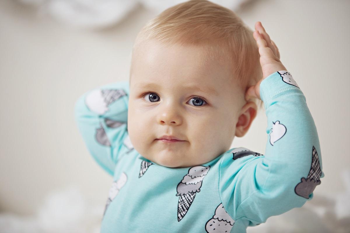 niebieskie oczy dziecka