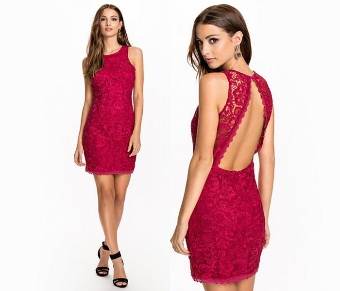 seksowna czerwona sukienka