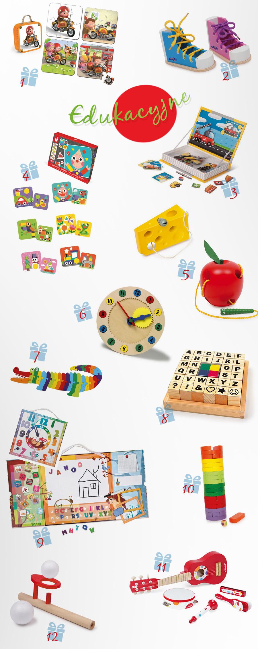 edukacyjne zabawki dla trzylatka