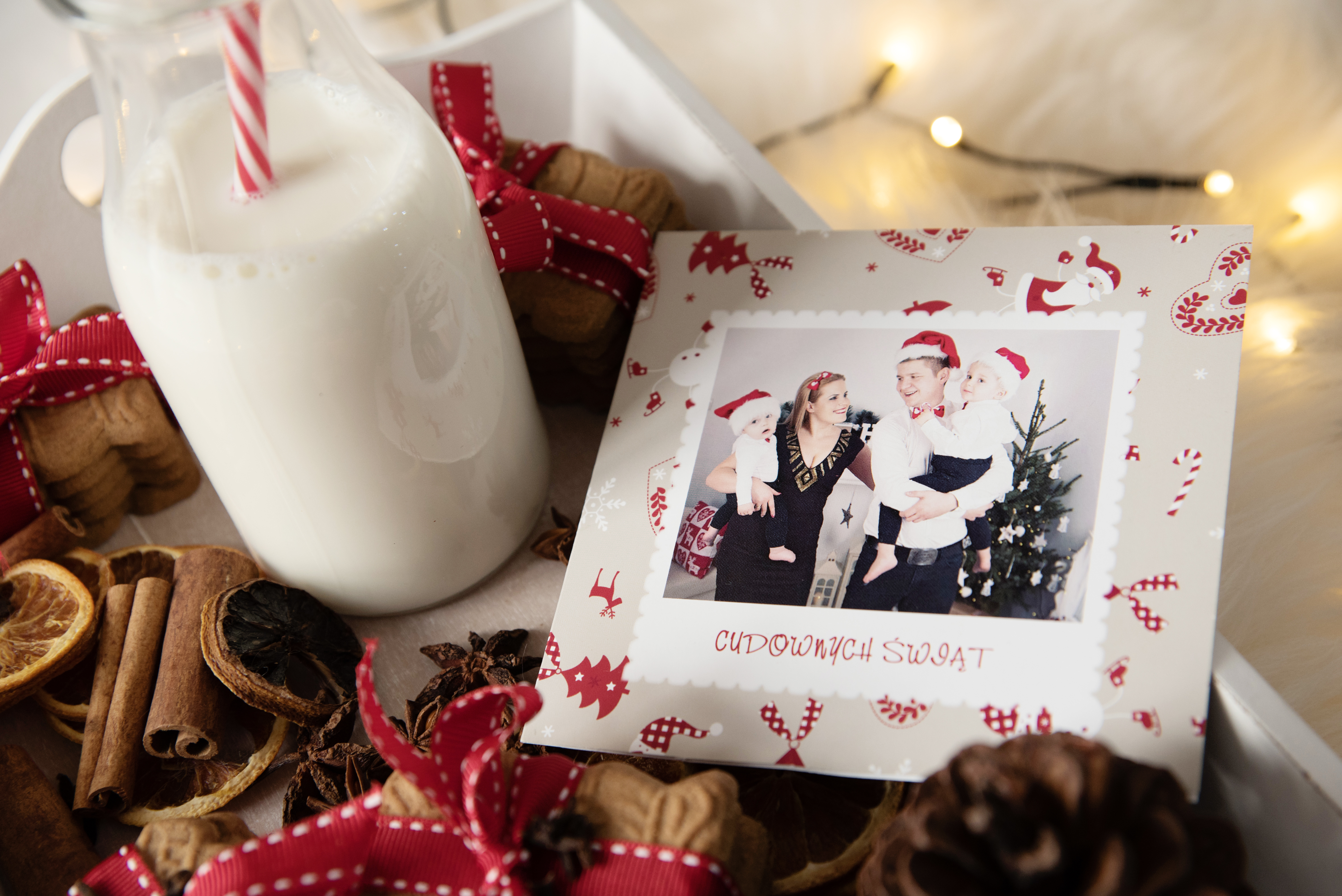 świąteczna kartka ze zdjęciem