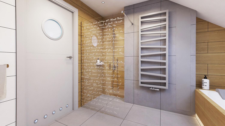 kabina prysznicowa z grawerem