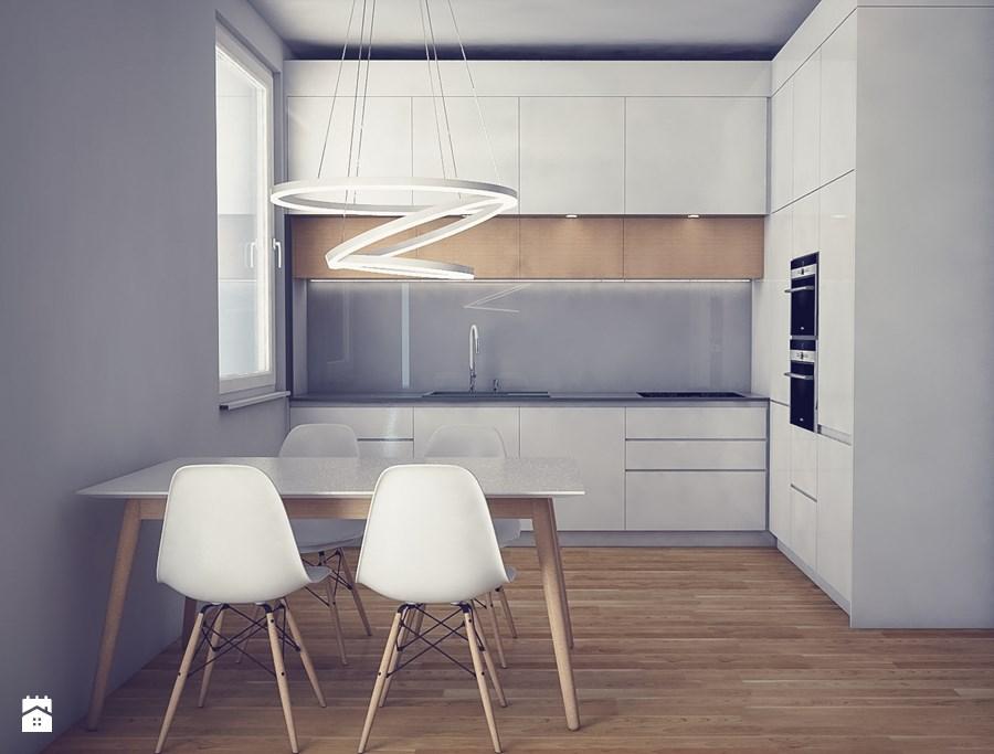 Porojekt Kuchni Inspiracje Kuchnia Szaro Biała Z