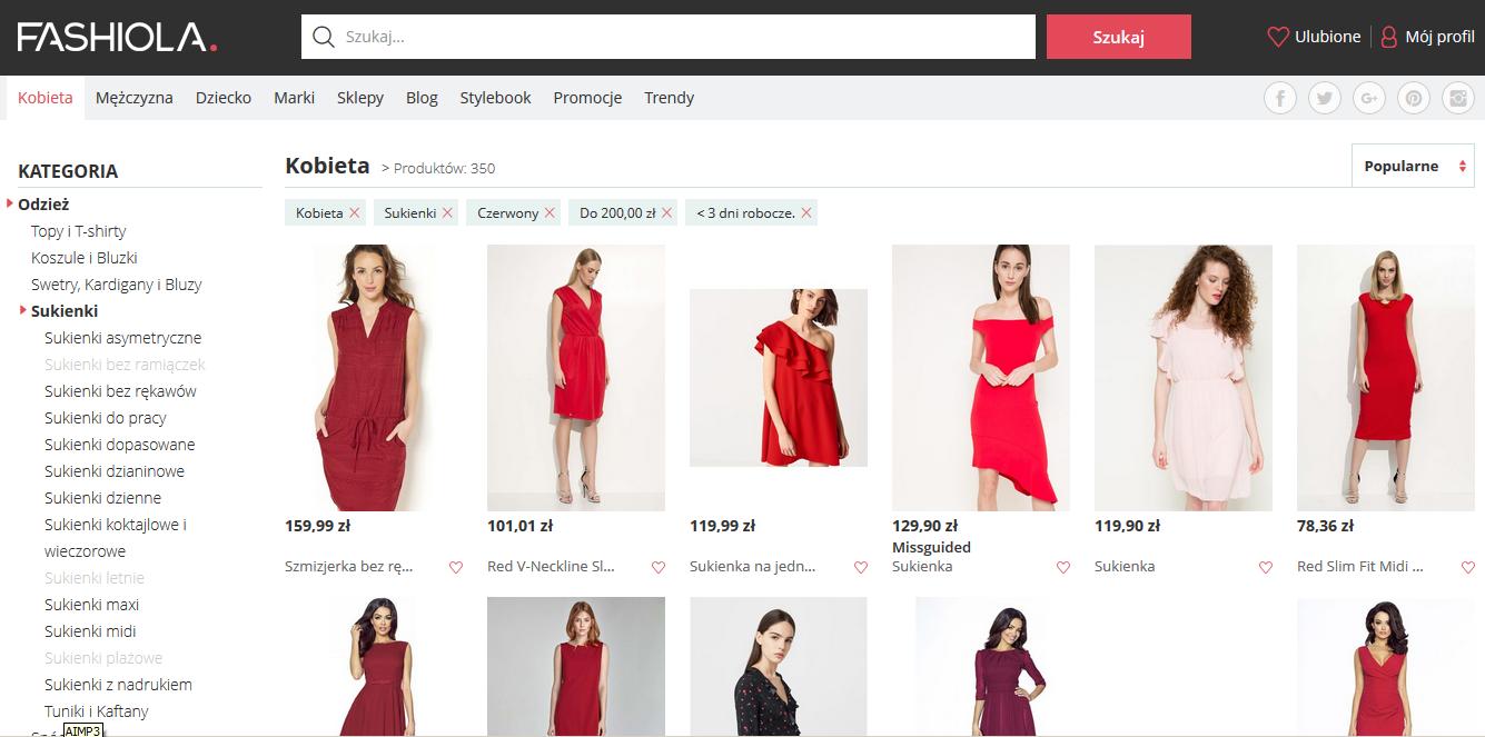 wyszukiwarka sukienek butów prócz allegro