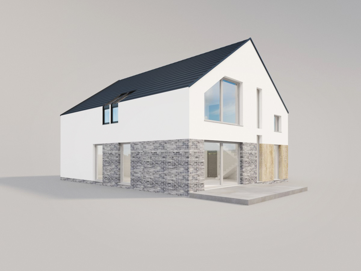 nowoczesny dom duże okna