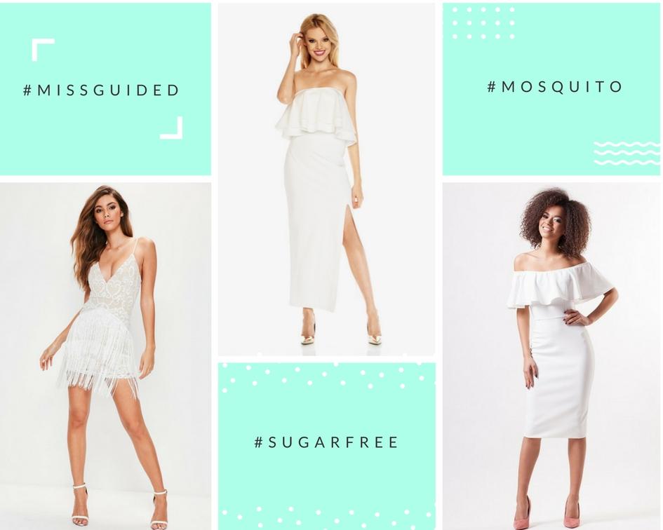 biała piękna sukienka