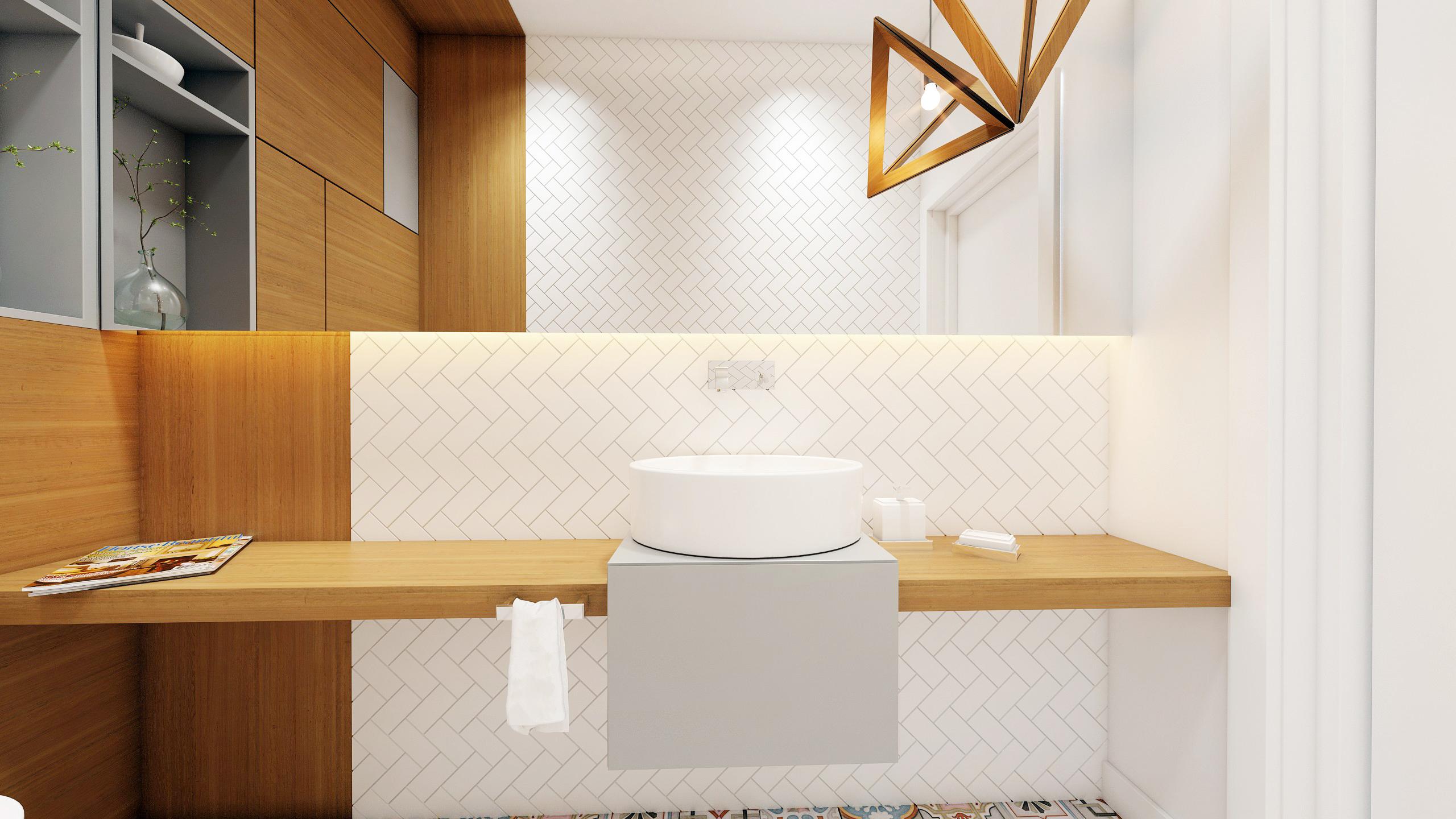 łazienka Drewno Biel I Szarość Wkręconapl Blog