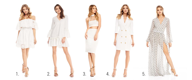 biała sukienka na lato 2018