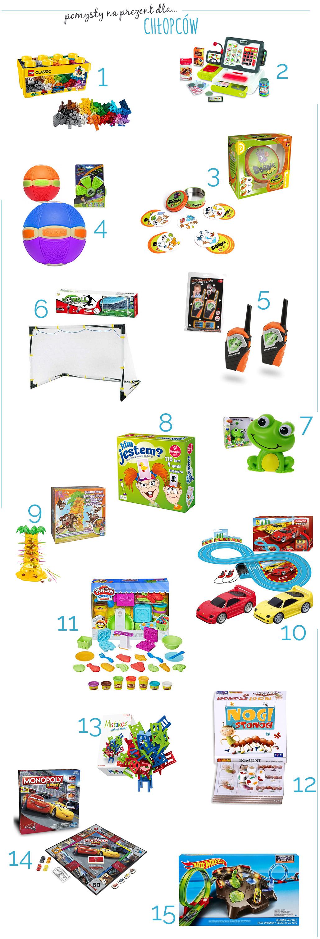 lista zabawek dla małych chłopców
