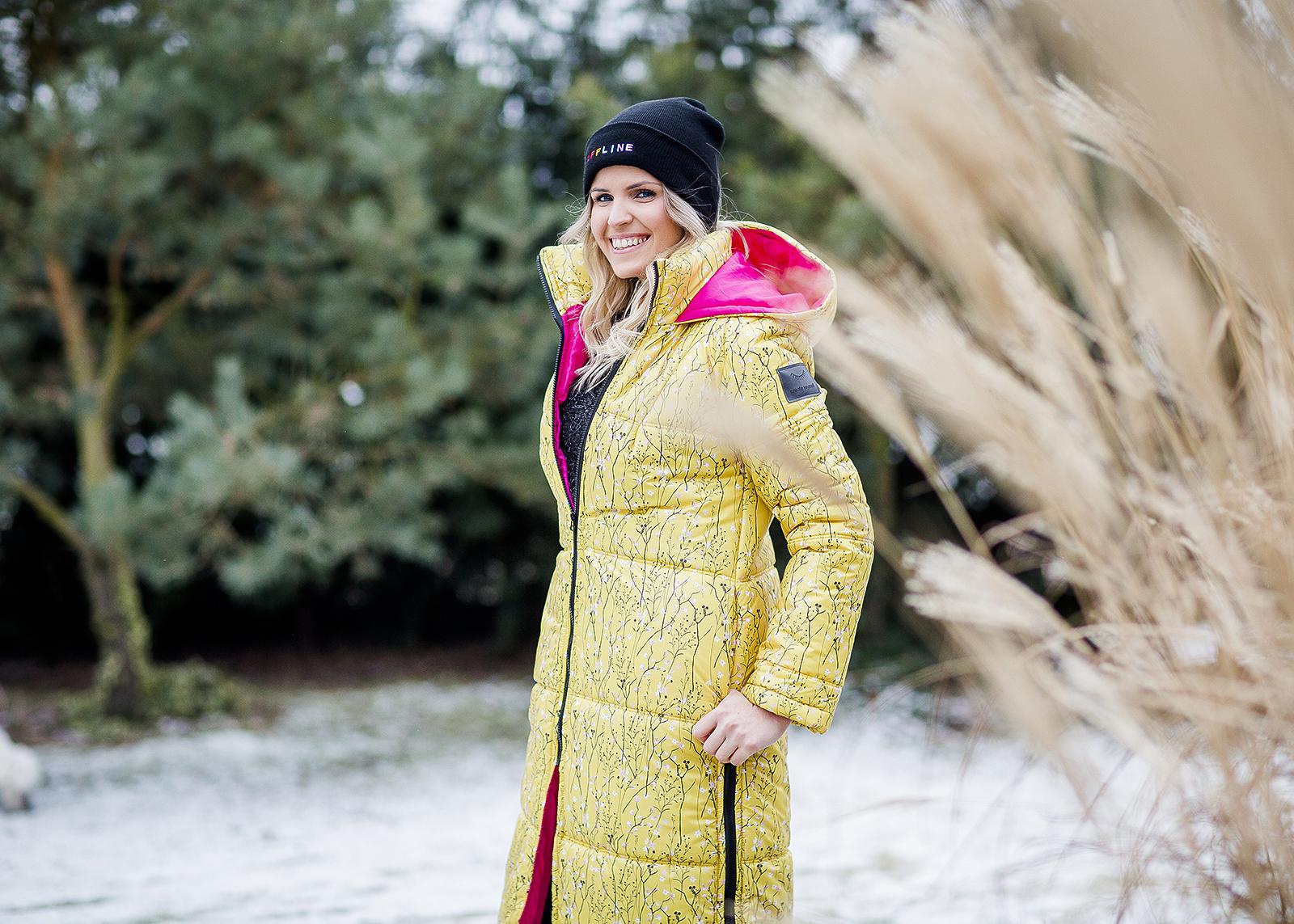 płaszcz NAOKO Oslo Butterscotch kolorowa kurtka