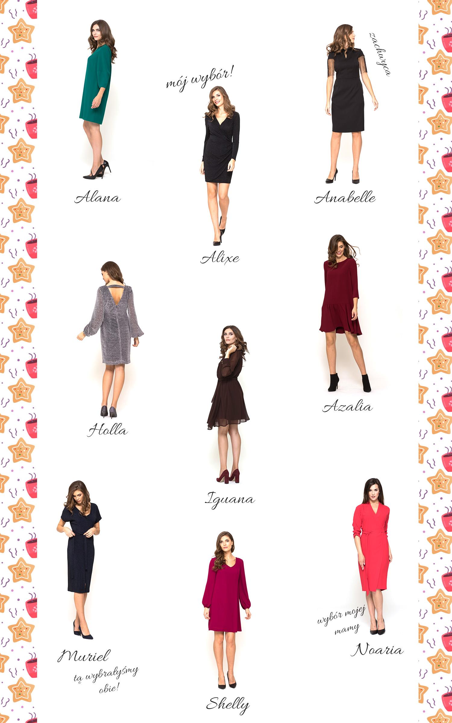 grafika z sukienkami