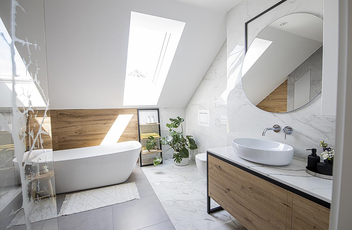 łazienka poddasze pomysł