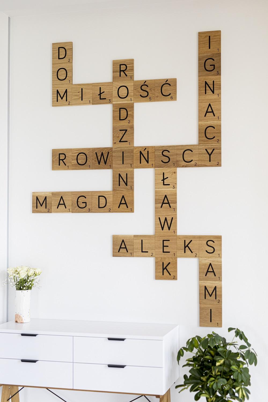 drewniane literki imiona