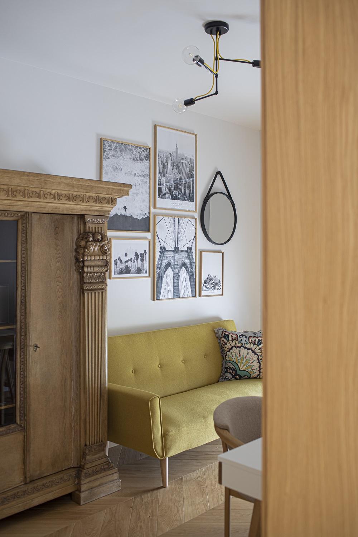 szafa antyk w biurze pomysł na wnętrze
